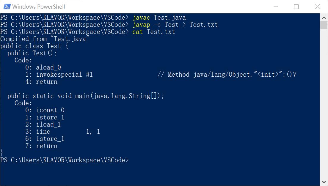 反汇编java字节码文件